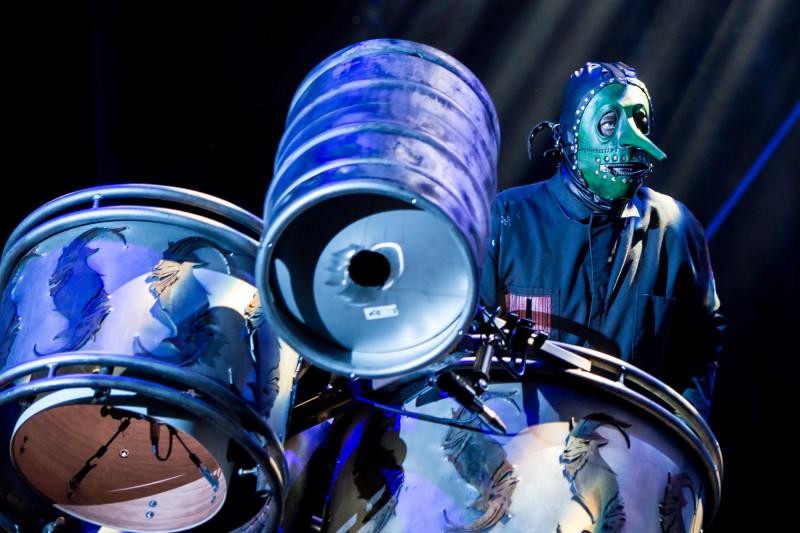 Chris Fehn von Slipknot in seinem Element (Foto: Christoph Gurtner)