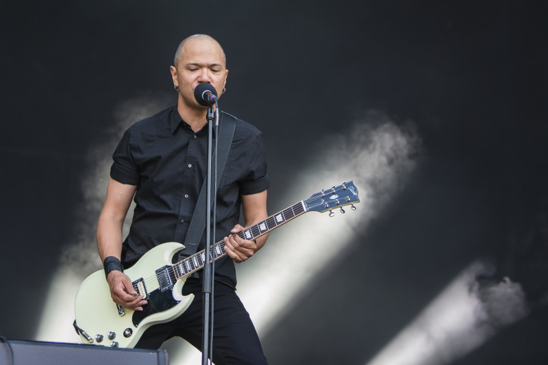 Das kanadische Power-Trie Danko Jones rockt Greenfield (Foto: Christoph Gurtner)