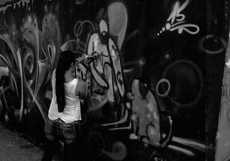 Streetart bLACKANDWHITE