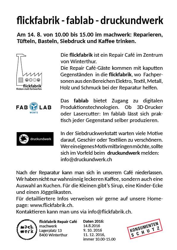 Die flickfabrik arbeitet mit lokalen Upcycling-Projekten zusammen