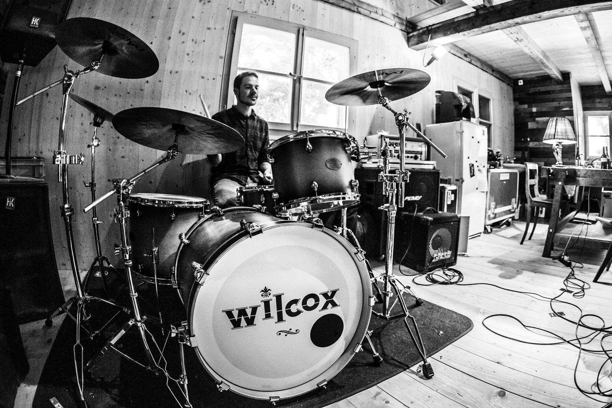 Wilcox im Proberaum